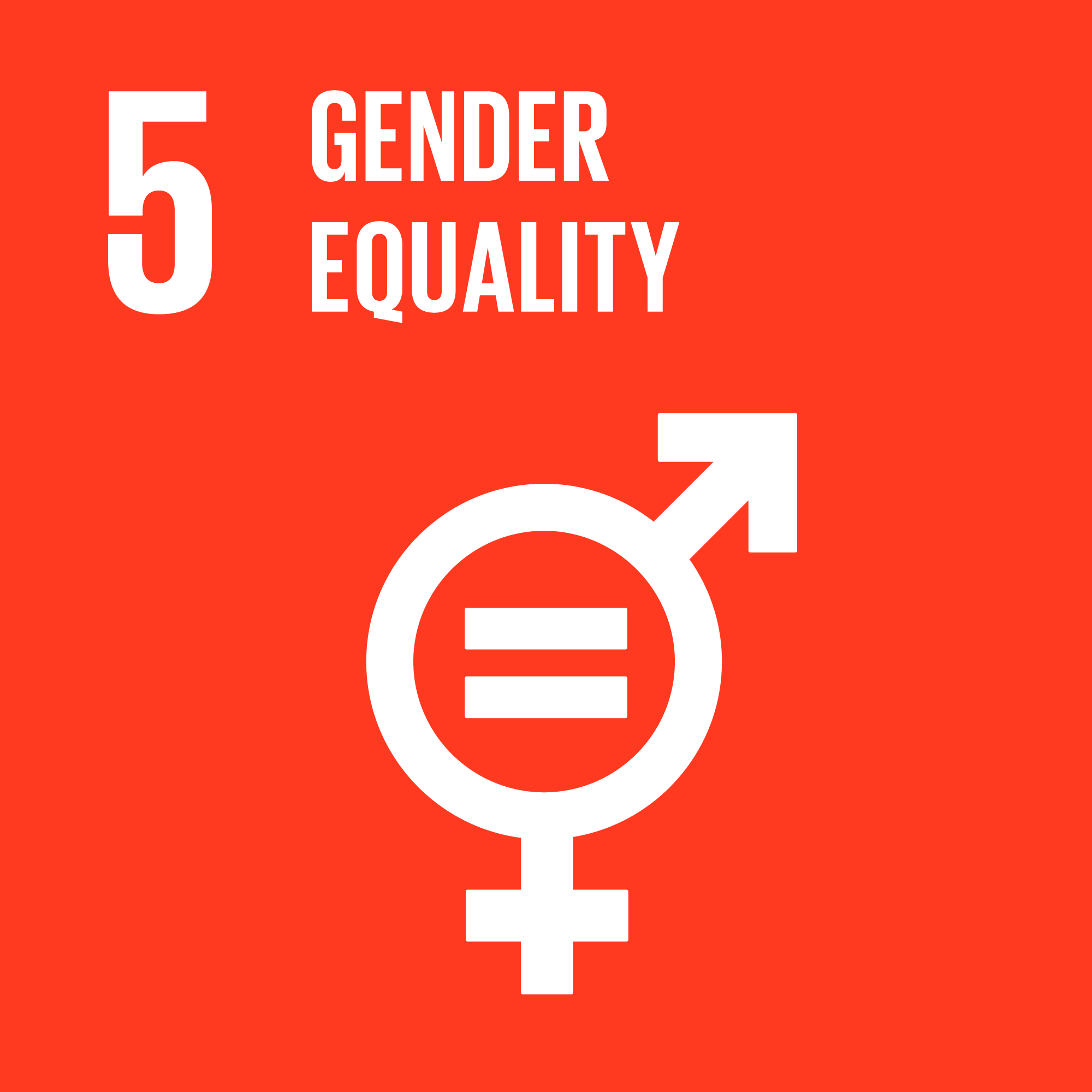 Sustainable development goals 5. Illustration.