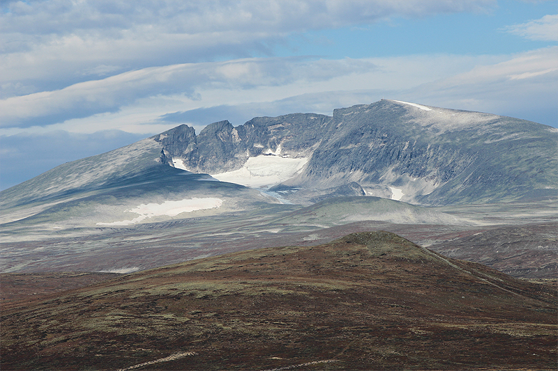 Picture of Snøhetta, a mountain at Dovrefjell (middle of Norway).