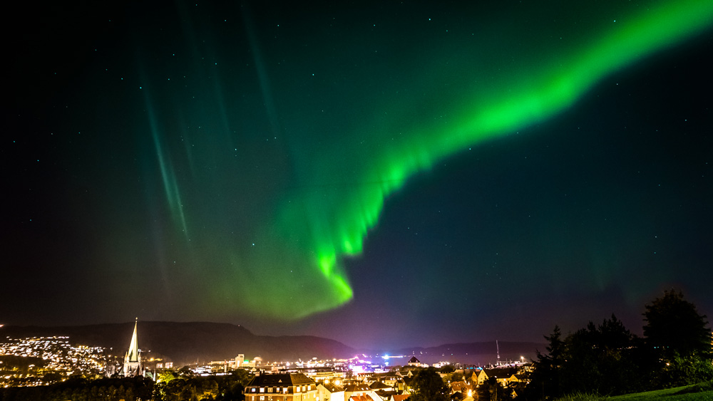 Northern light over Trondheim.