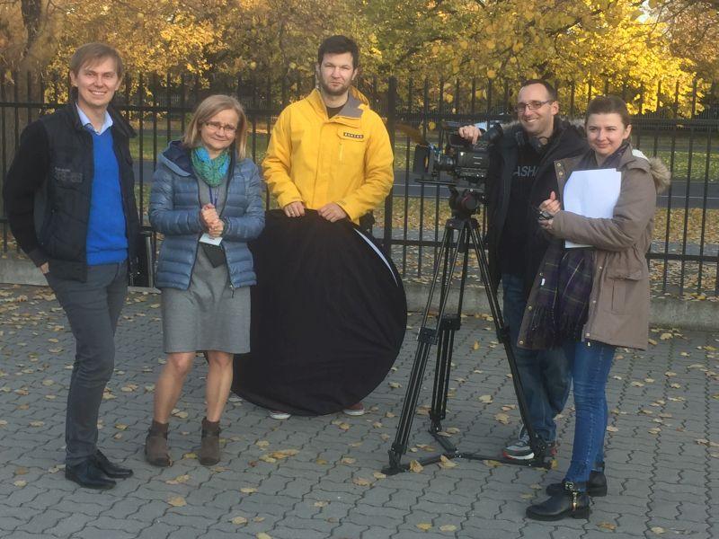 Filming for the PRACTA project, photo
