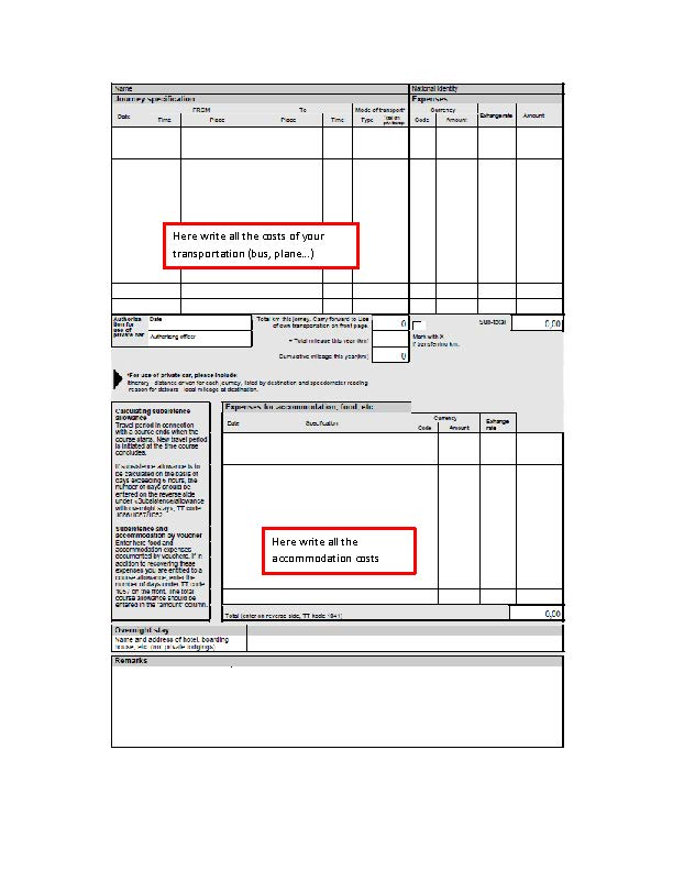 reinbursment form - image