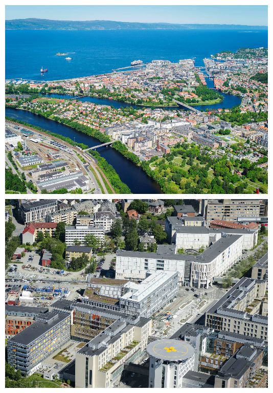 Trondheim and NTNU from above