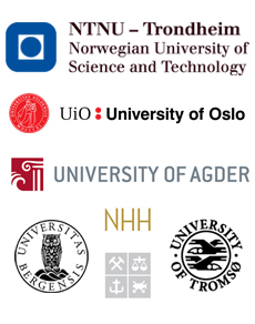 Logos for the partners - The Norwegian Graduate Researcher School in Linguistics and Philology