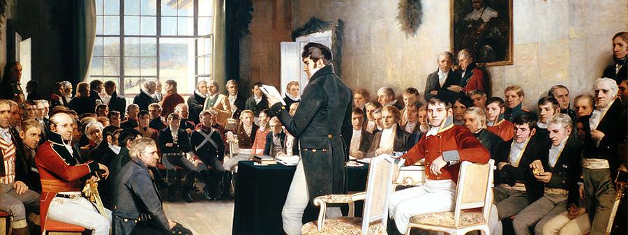 The painting Eidsvold 1814 av Oscar Arnold Wergeland.
