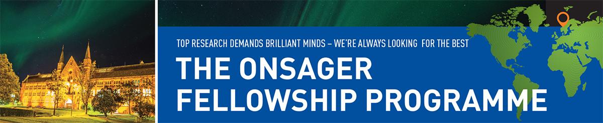 Onsager Fellowship Programme, banner