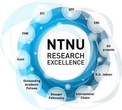 NTNU Research Excellence, model