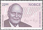 Lars Onsager on stamp, 2003
