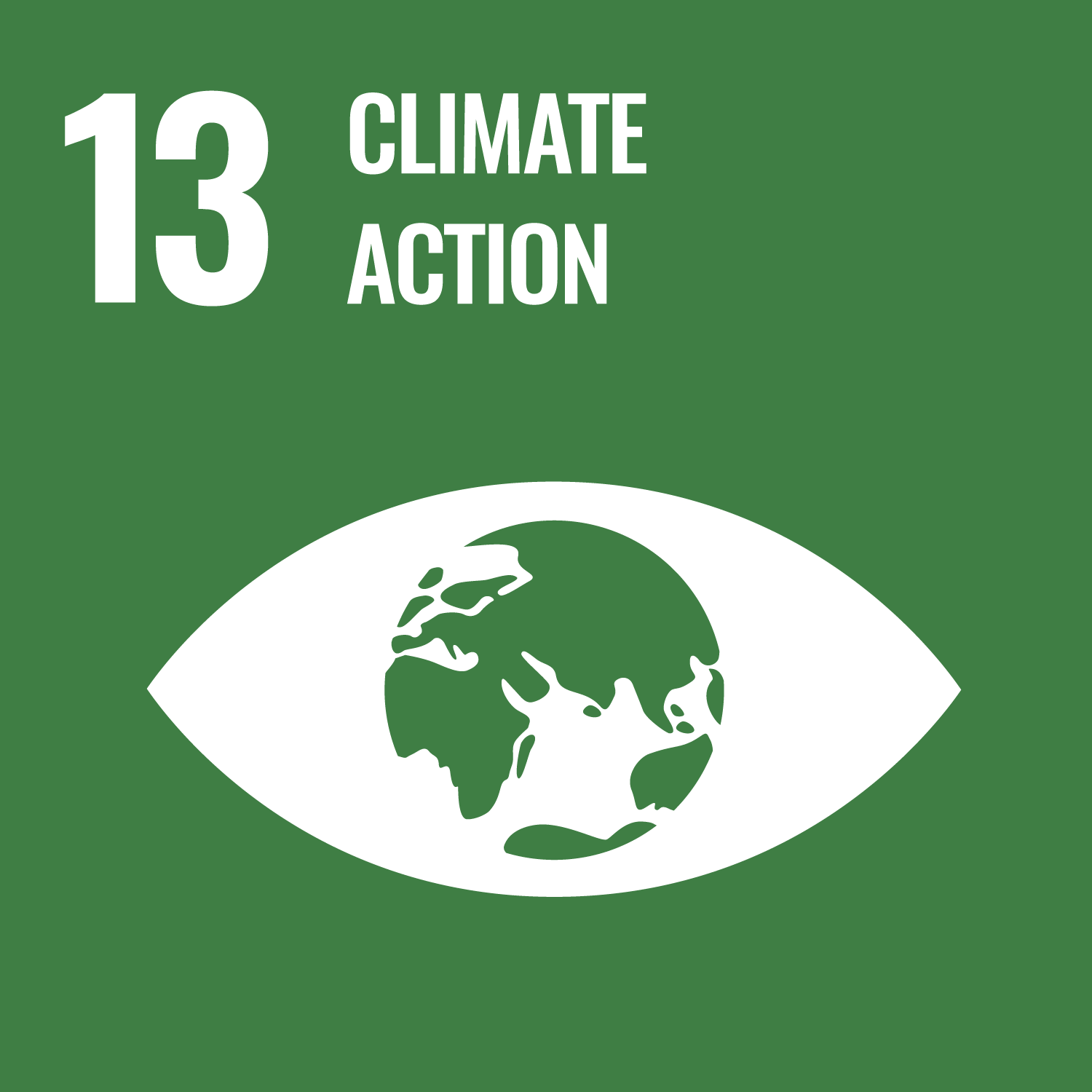 UN sustainable development goal number 13 Climate action. Link to goal number 13.