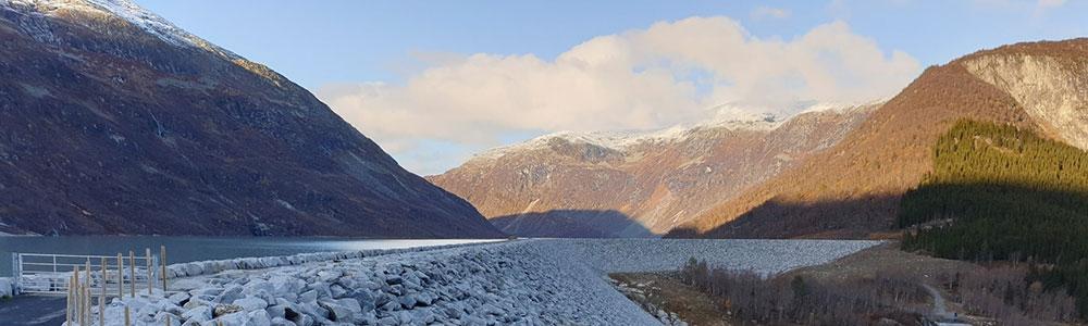Tunsbergdalsdammen. Photo: Halvor Kjærås