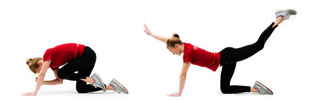 Woman doing back diagonal