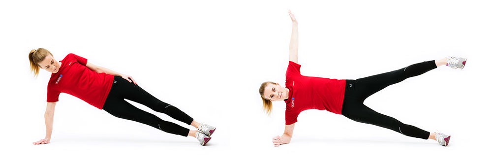 Woman doing side plank