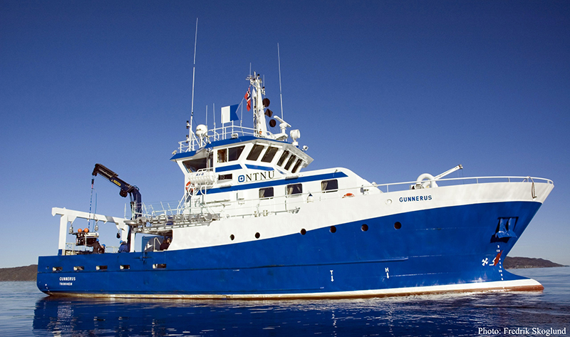 R/V Gunnerus starboard side view.