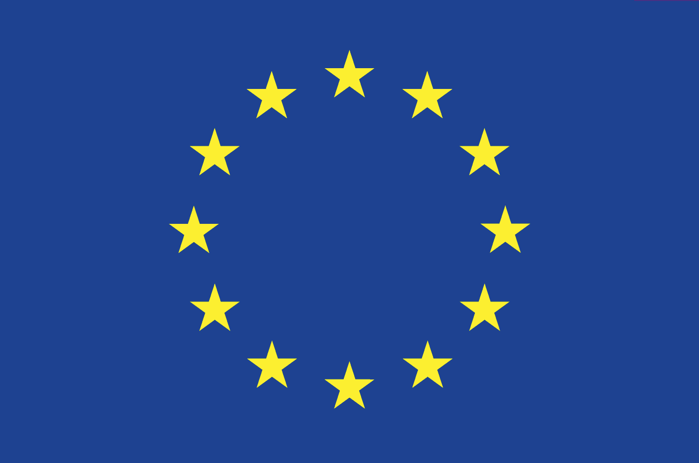 EU flag. Illustration.